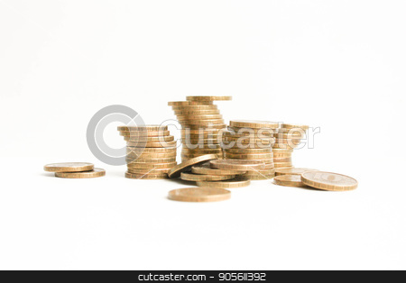 Rubles Pile. on a white background. Photo stock photo, Rubles Pile. on a white background. Photo for your design by Kseniia