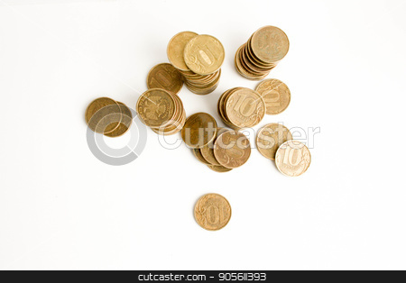 Rubles. on a white background. Photo stock photo, Rubles. on a white background. Photo for your design by Kseniia