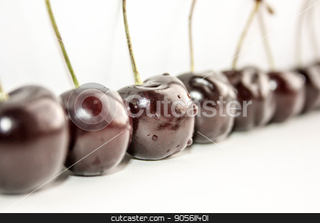 Cherries are lined up. Photo stock photo, Cherries are lined up. Photo for your design by Kseniia