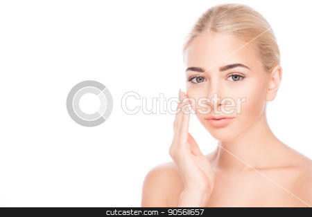 Young woman beauty and spa skin care stock photo, Young woman fresh healthy beauty and spa skin care by Dmytro Sidelnikov