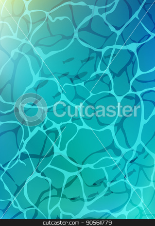 turquoise water in swimming pool with sun glare. Marine sea background surface water top view stock vector clipart, turquoise water in swimming pool with sun glare. Marine background surface water top view. Vector illustration by MarySan