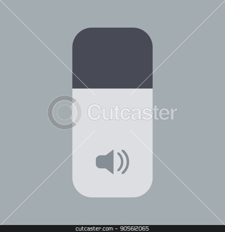 Vector modern sound icon on gray background stock vector clipart, Vector modern sound icon on gray background by petr zaika