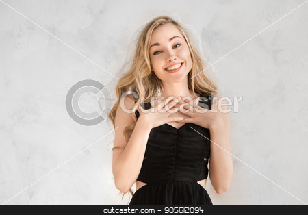 Young woman hen party celeration isolated on white stock photo, Young female party celeration isolated on white background bride by Dmytro Sidelnikov