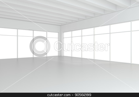 Empty white room interior office. 3d rendering stock photo, Empty white room interior office. 3d rendering. by Andrey