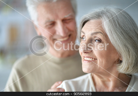 Portrait of happy senior couple stock photo, Portrait of a happy smiling senior couple by Ruslan Huzau