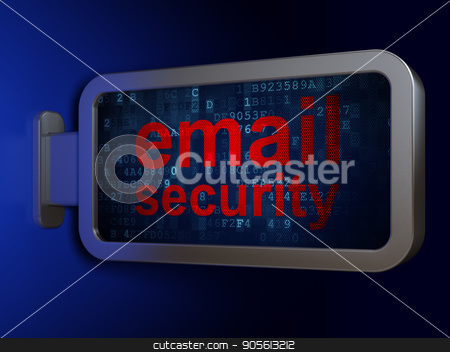 Protection concept: Email Security on billboard background stock photo, Protection concept: Email Security on advertising billboard background, 3D rendering by mkabakov