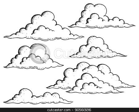Clouds drawings theme image 1 stock vector clipart, Clouds drawings theme image 1 - eps10 vector illustration. by Klara Viskova
