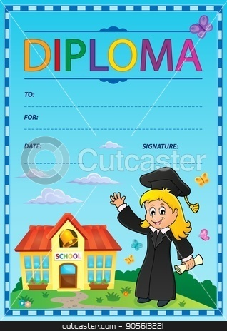 Diploma subject image 1 stock vector clipart, Diploma subject image 1 - eps10 vector illustration. by Klara Viskova
