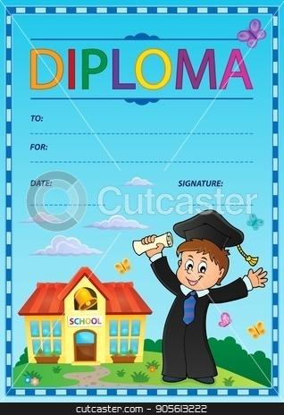 Diploma subject image 2 stock vector clipart, Diploma subject image 2 - eps10 vector illustration. by Klara Viskova