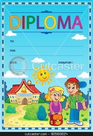 Diploma subject image 4 stock vector clipart, Diploma subject image 4 - eps10 vector illustration. by Klara Viskova