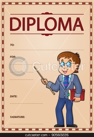 Diploma subject image 6 stock vector clipart, Diploma subject image 6 - eps10 vector illustration. by Klara Viskova
