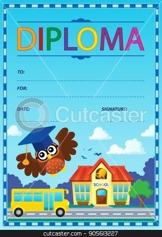Diploma theme image 9 stock vector clipart, Diploma theme image 9 - eps10 vector illustration. by Klara Viskova