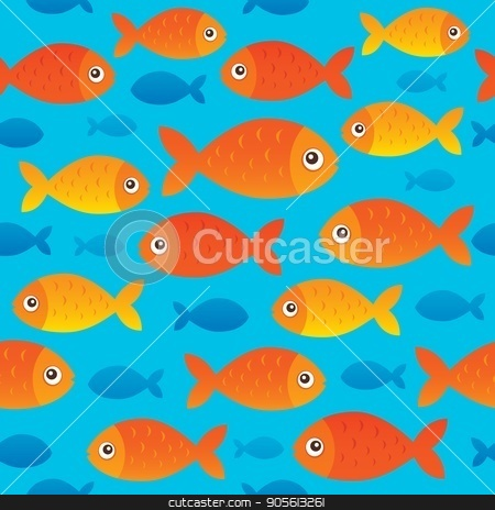 Seamless background stylized fishes 2 stock vector clipart, Seamless background stylized fishes 2 - eps10 vector illustration. by Klara Viskova
