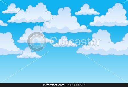 Horizontally seamless sky with clouds 1 stock vector clipart, Horizontally seamless sky with clouds 1 - eps10 vector illustration. by Klara Viskova