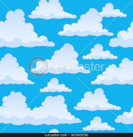 Stylized clouds seamless background 2 stock vector clipart, Stylized clouds seamless background 2 - eps10 vector illustration. by Klara Viskova