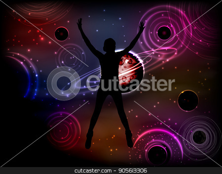 Concept cosmos inside us. yoga. Titats and statuses stock vector clipart, Concept cosmos inside us. yoga. Titats and statuses. The girl is silhouetted. Small door to space space. Illustration, vector for your design by Kseniia
