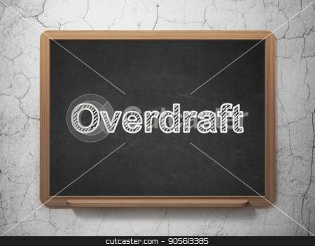 Business concept: Overdraft on chalkboard background stock photo, Business concept: text Overdraft on Black chalkboard on grunge wall background, 3D rendering by mkabakov