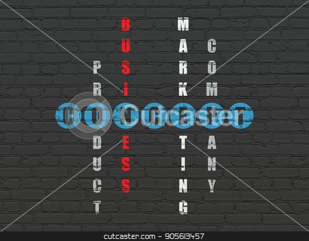Marketing concept: Concept in Crossword Puzzle stock photo, Marketing concept: Painted blue word Concept in solving Crossword Puzzle by mkabakov