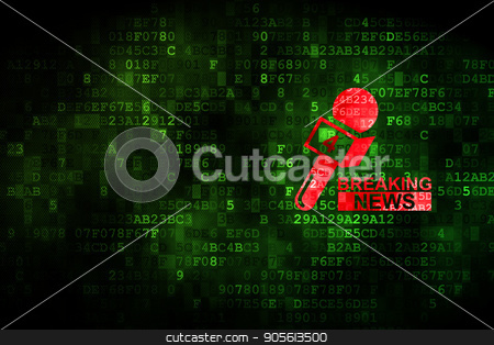 News concept: Breaking News And Microphone on digital background stock photo, News concept: pixelated Breaking News And Microphone icon on digital background, empty copyspace for card, text, advertising by mkabakov