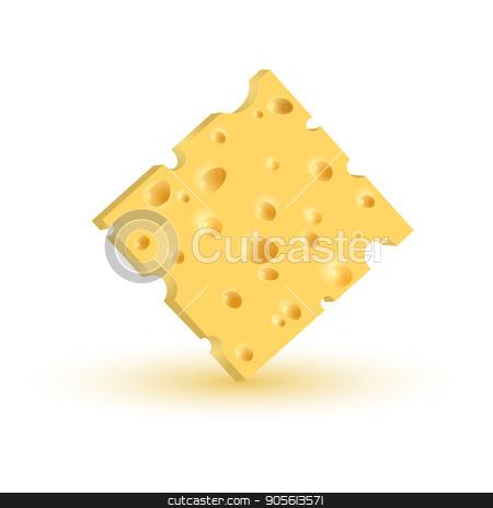 piece of cheese. Vector stock vector clipart, Realistic piece of cheese. Vector illustration EPS10 by Igor Samoilik