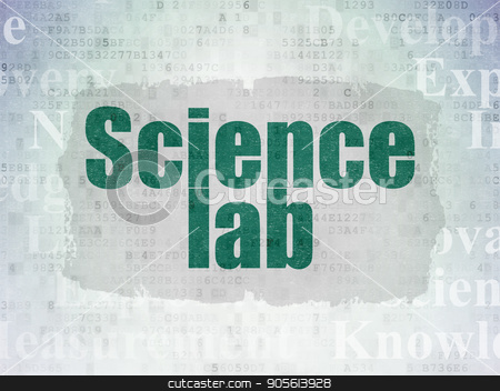 Science concept: Science Lab on Digital Data Paper background stock photo, Science concept: Painted green text Science Lab on Digital Data Paper background with   Tag Cloud by mkabakov