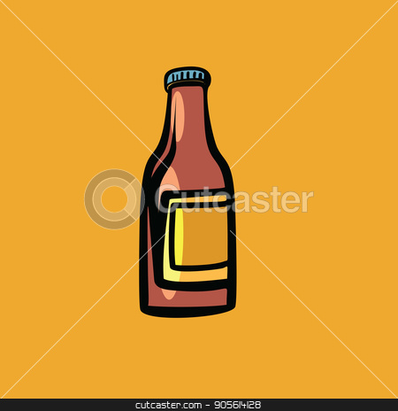 mockup sauce bottle stock vector clipart, mockup sauce bottle. Comic cartoon style pop art retro vector color drawing illustration by rogistok
