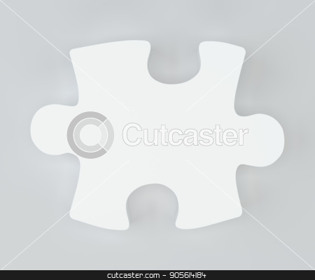 White puzzle with soft shadows. 3d rendering stock photo, White puzzle with soft shadows. 3d rendering. Top view by Andrey