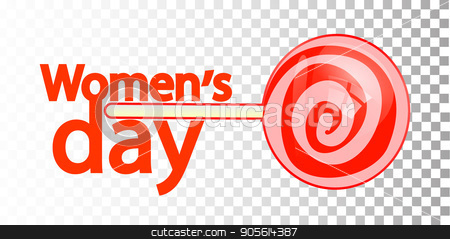 International Women's Day. Illustration, vector for your design stock vector clipart, International Women's Day. Illustration, vector for your design. Logo. On a background isolated. lollipop. Women love the sweet. Mirror Venus. Symbol of the feminine by Kseniia