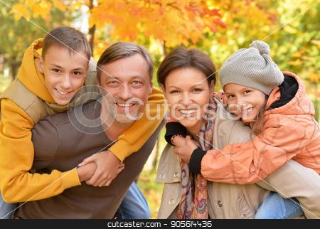 Portrait of big happy family  stock photo, Portrait of big happy family looking at camera by Ruslan Huzau