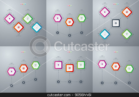 Set with infographics stock vector clipart, Set with infographics. Data and information visualization. Template. Stock vector by Amelisk