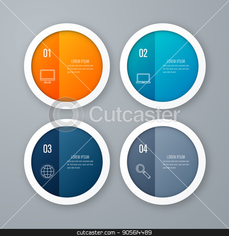 emplate for cycle diagram, graph, presentation stock vector clipart, Vector for infographic. Template for cycle diagram, graph, presentation and round chart. Business concept with 4 options, parts, steps or processes. Data visualization. by Amelisk