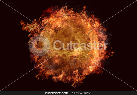 Planet in fire - Venus. Science fiction art. stock photo, Planet in fire - Venus. Science fiction art. Solar system. Elements of this image furnished by NASA by NASA