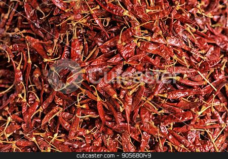 dried hot pepper stock photo, Close up view of dried hot pepper by Ruslan Huzau