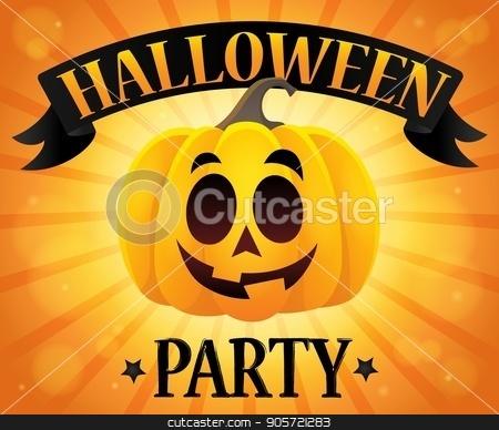 Halloween party sign composition image 1 stock vector clipart, Halloween party sign composition image 1 - eps10 vector illustration. by Klara Viskova