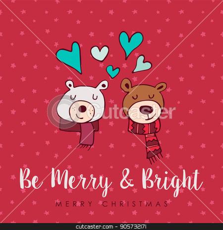 christmas cute holiday love bears cartoon card stock vector jpg 450x464 quotes cute cartoon christmas love