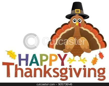 Happy Thanksgiving theme 5 stock vector clipart, Happy Thanksgiving theme 5 - eps10 vector illustration. by Klara Viskova