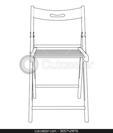 Fine Folding Chair Sketch Vector Stock Vector Beatyapartments Chair Design Images Beatyapartmentscom