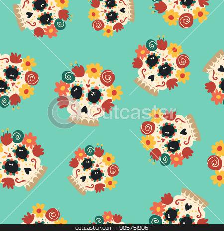 Day Of The Dead Sugar Skull Catrina Background Art