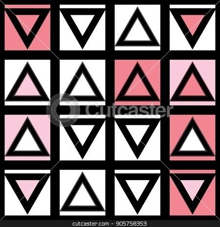 Decorative geometric shapes tiling. Monochrome irregular pattern.  Abstract  background. Artistic decorative ornamental lattice stock photo, Decorative geometric shapes tiling. Monochrome trendy irregular pattern.  Abstract  background. Artistic decorative ornamental lattice by CreatorsClub