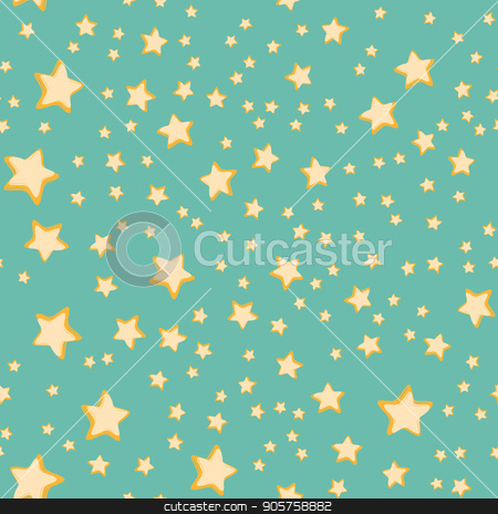 Stars seamless pattern stock vector clipart, Stars seamless pattern. Comic book cartoon pop art retro vector illustration drawing by rogistok