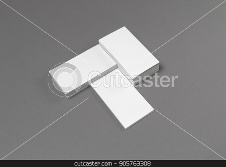 Empty business cards stock photo