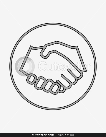 Handshake Solid Icon Stock Vector