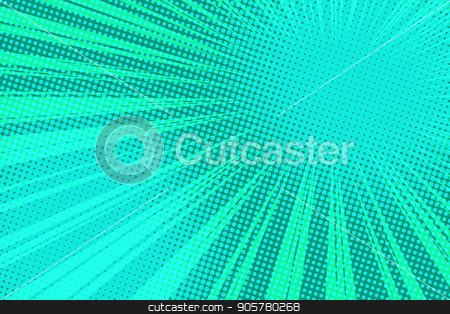 green pop art rays background stock vector clipart, green pop art rays background. retro vector illustration by studiostoks