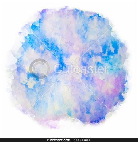 Watercolor splash on white background stock vector clipart, Watercolor splash on white background. Vector blue, purple abstract blot on paper. by Liubov Nazarova