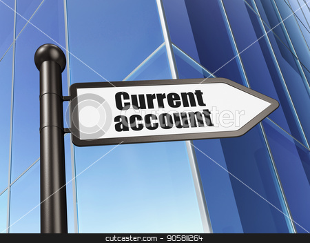 Money concept: sign Current Account on Building background stock photo, Money concept: sign Current Account on Building background, 3D rendering by mkabakov