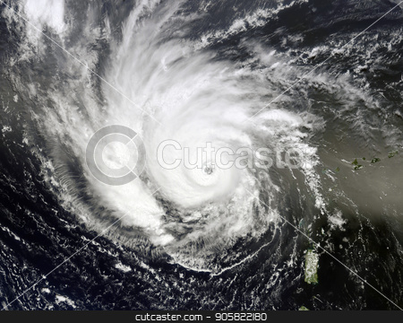 Typhoon over planet Earth. Elements of this image furnished by NASA. stock photo, Typhoon over planet Earth - satellite photo. Elements of this image furnished by NASA. by NASA