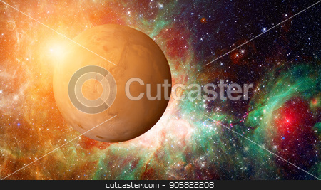 Planet Mars in the solar system. Elements of this image are furnished by NASA stock photo, Planet Mars in the solar system. Elements of this image are furnished by NASA by NASA