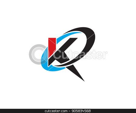 K Letter Logo Template Stock Vector