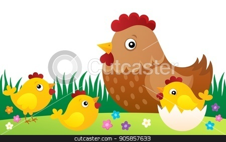 Chicken topic image 5 stock vector clipart, Chicken topic image 5 - eps10 vector illustration. by Klara Viskova