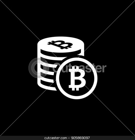 Cryptocurrency Flat Icon. stock vector clipart, Cryptocurrency Flat Icon. Modern computer network technology sign. Digital graphic symbol. Concept design elements. by Vadym Nechyporenko